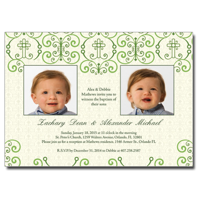 Adorned Cross Invitation