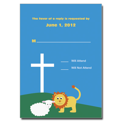 Lion & Lamb Response Card