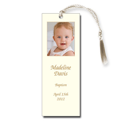 Photo Ecru Bookmark