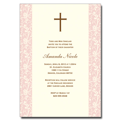 Pink Vines Invitation