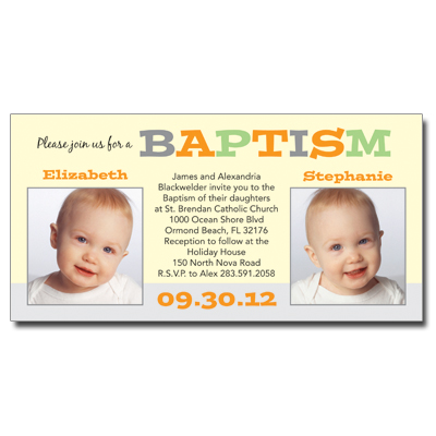 Twice As Nice Invitation - Baptism