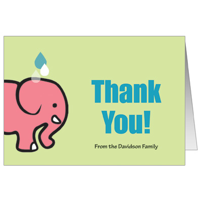 Mama & Baby Elephant Note Card