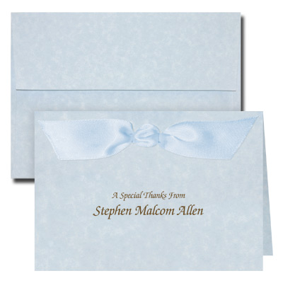 Parchment Blue Note Card