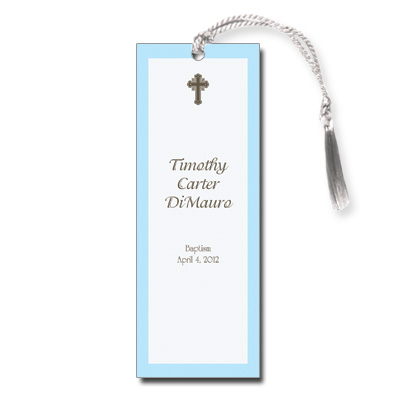 Chocolate & Blue Keepsake Bookmark