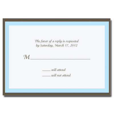 Chocolate & Blue Response Card