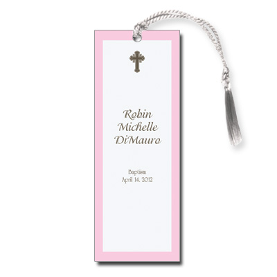 Chocolate & Pink Keepsake Bookmark