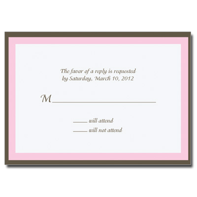 Chocolate & Pink Response Card