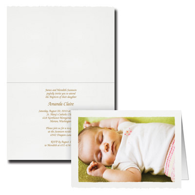 Deckle Edge Photo Invitation - Landscape