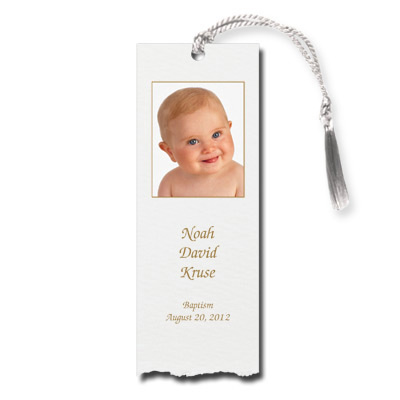 Deckle Edge Photo Bookmark