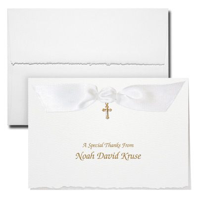 Deckle Edge Note Card With Charm