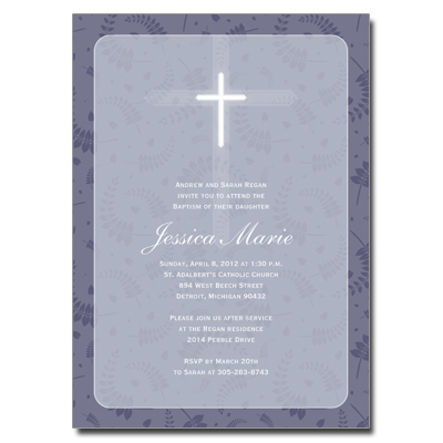 Round Purple Frame Invitation