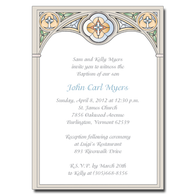 Stained Glass Blue Invitation