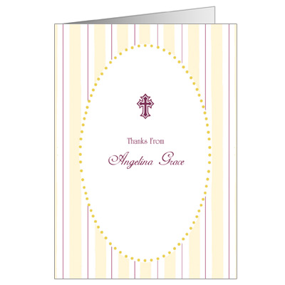 Gold Stripes Note Card