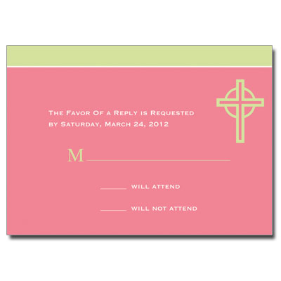 Kiwi Cross Pink Response Card