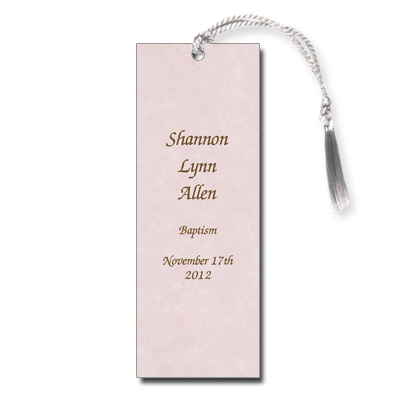 Parchment Pink Bookmark