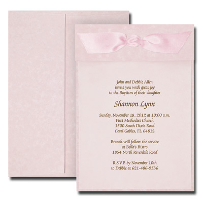 Parchment Pink Invitation with Vellum