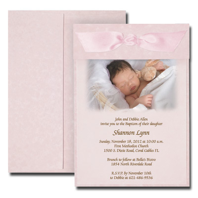 Parchment Pink Photo Invitation with Vellum