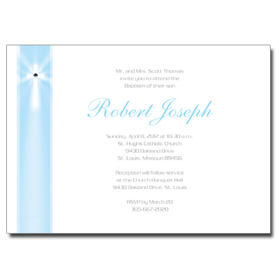 Jeweled Rays Blue Invitation