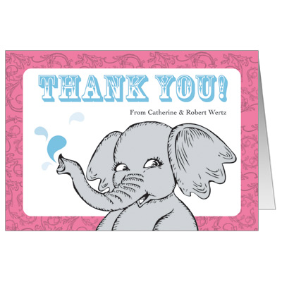 Elephant Splash Note Card
