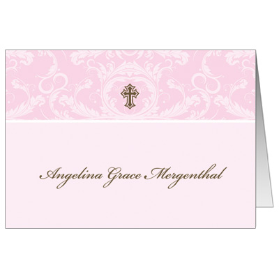 Toile Pink Note Card