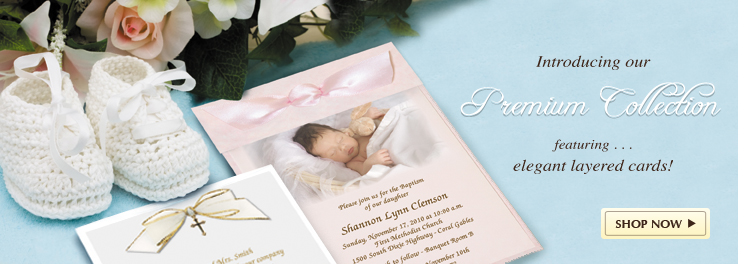 Hand Made Baptism Invitation Cards Premium Collection