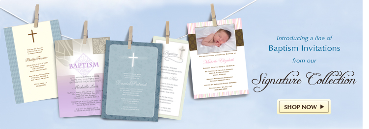 Signature Cards and Baptism Invitations as low as $1.35 per card