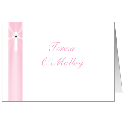Jeweled Rays Pink Note Card