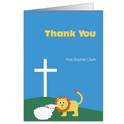 Lion & Lamb Note Card