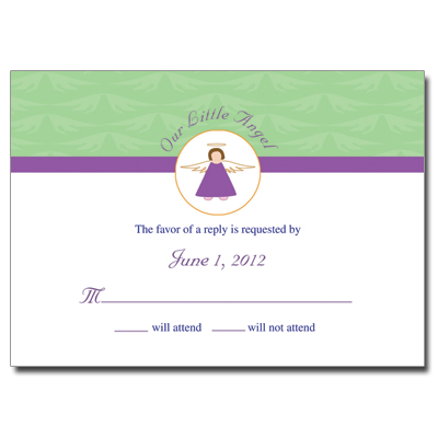 Little Angel Response Card