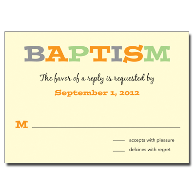Twice As Nice Response Card - Baptism