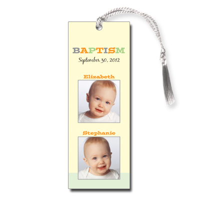 Twice As Nice Bookmark - Baptism