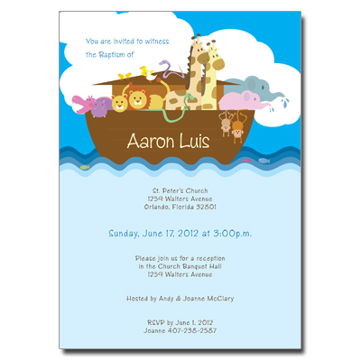 Noah's Ark Invitation