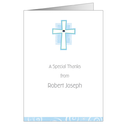 Cross Jewel Blue Note Card