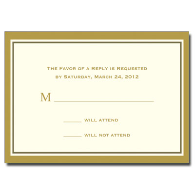 Gold Filigree Jewel Cross Response Card