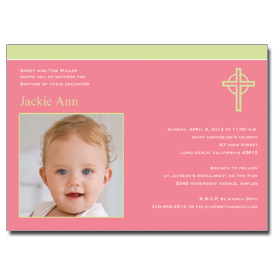 Kiwi Cross Pink Invitation