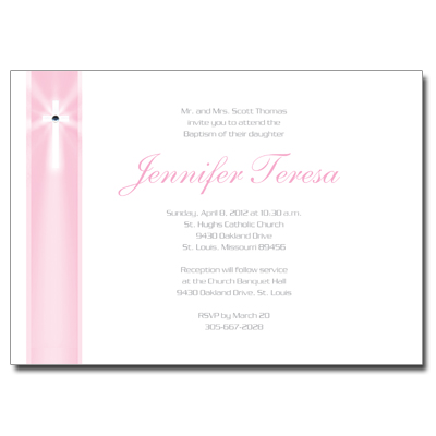 Jeweled Rays Pink Invitation